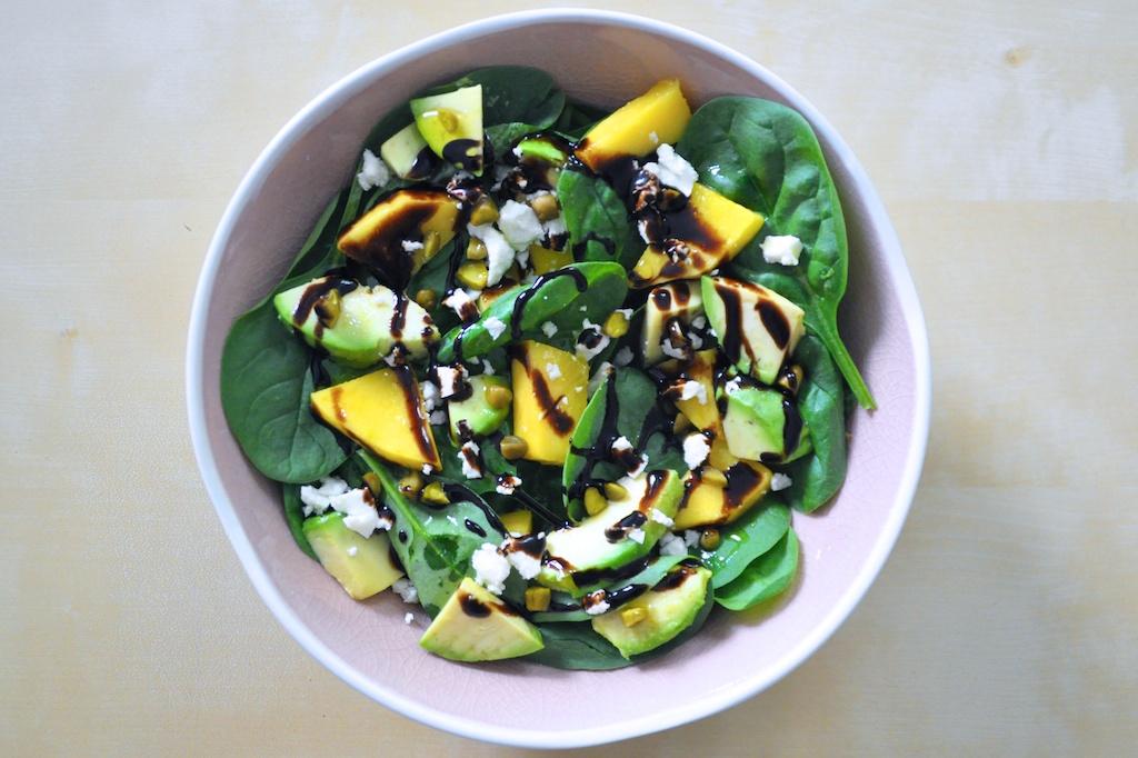 Salade Epinards Mangue Avocat