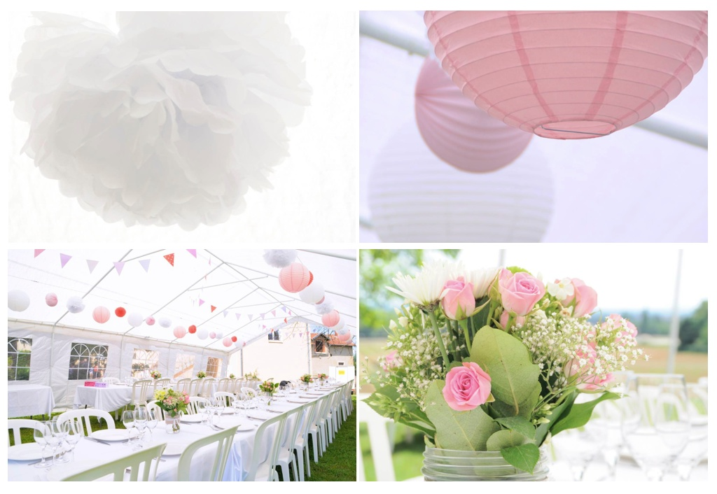 Decoration Bapteme Fille Rose Fushia Et Blanc Id Es De
