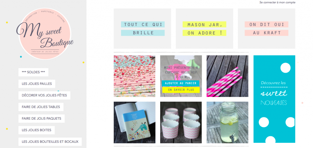 Capture d'écran My Sweet Boutique Aout 2014