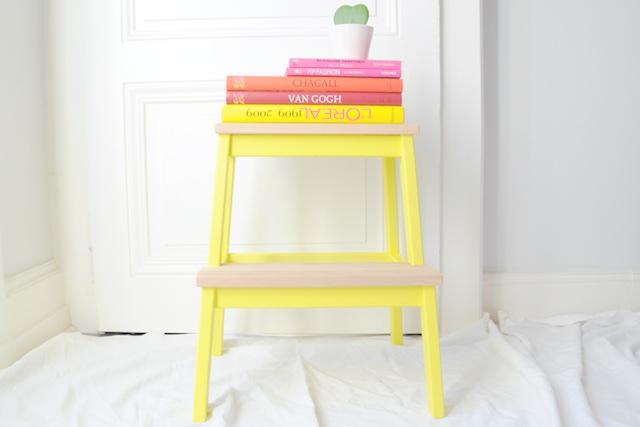 diy customiser un marchepied ikea bekv m mange brille aime. Black Bedroom Furniture Sets. Home Design Ideas