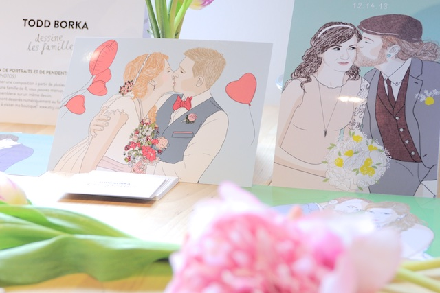 Todd Borka Illustrations Mariage - Pop Up Store Etsy Lyon
