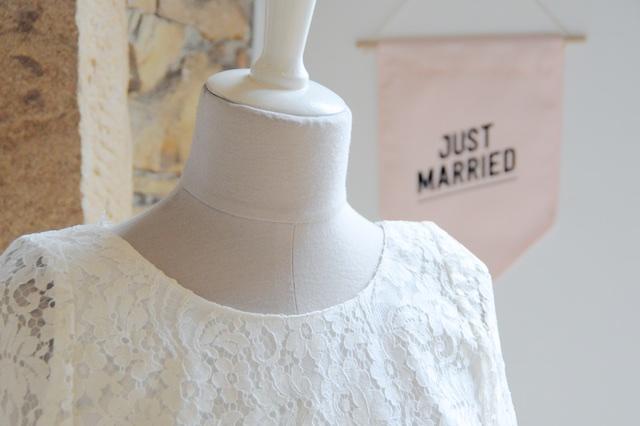 Robe de mariée en dentelle - Pop Up Store Etsy Lyon