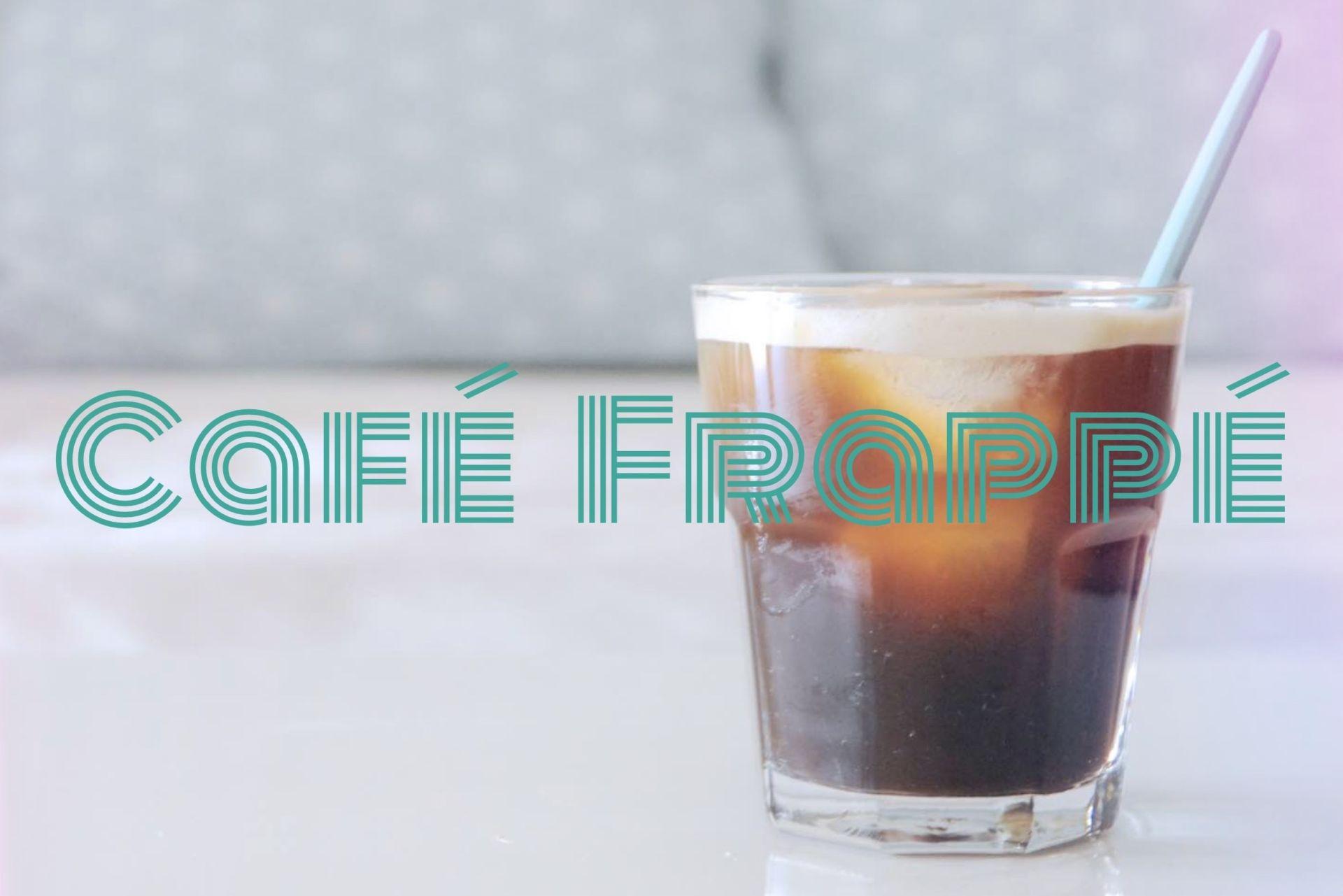 Café Frappé Mange Brille Aime