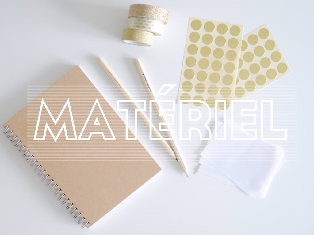 DIY Customiser un carnet de notes Gold - MangeBrilleAime