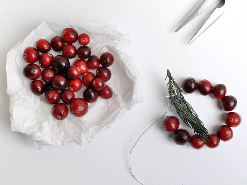 DIY Noël Décoration de table Cranberry - MangeBrilleAime