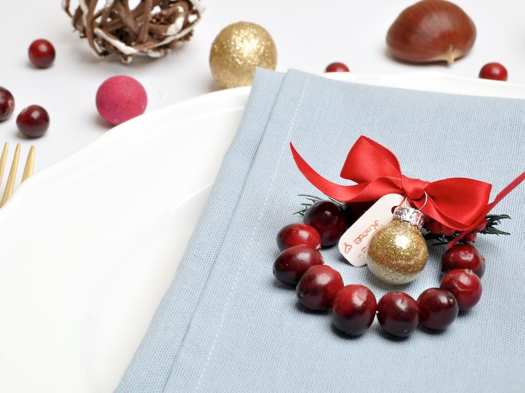 DIY Noël Décoration de table Cranberry - MangeBrilleAime