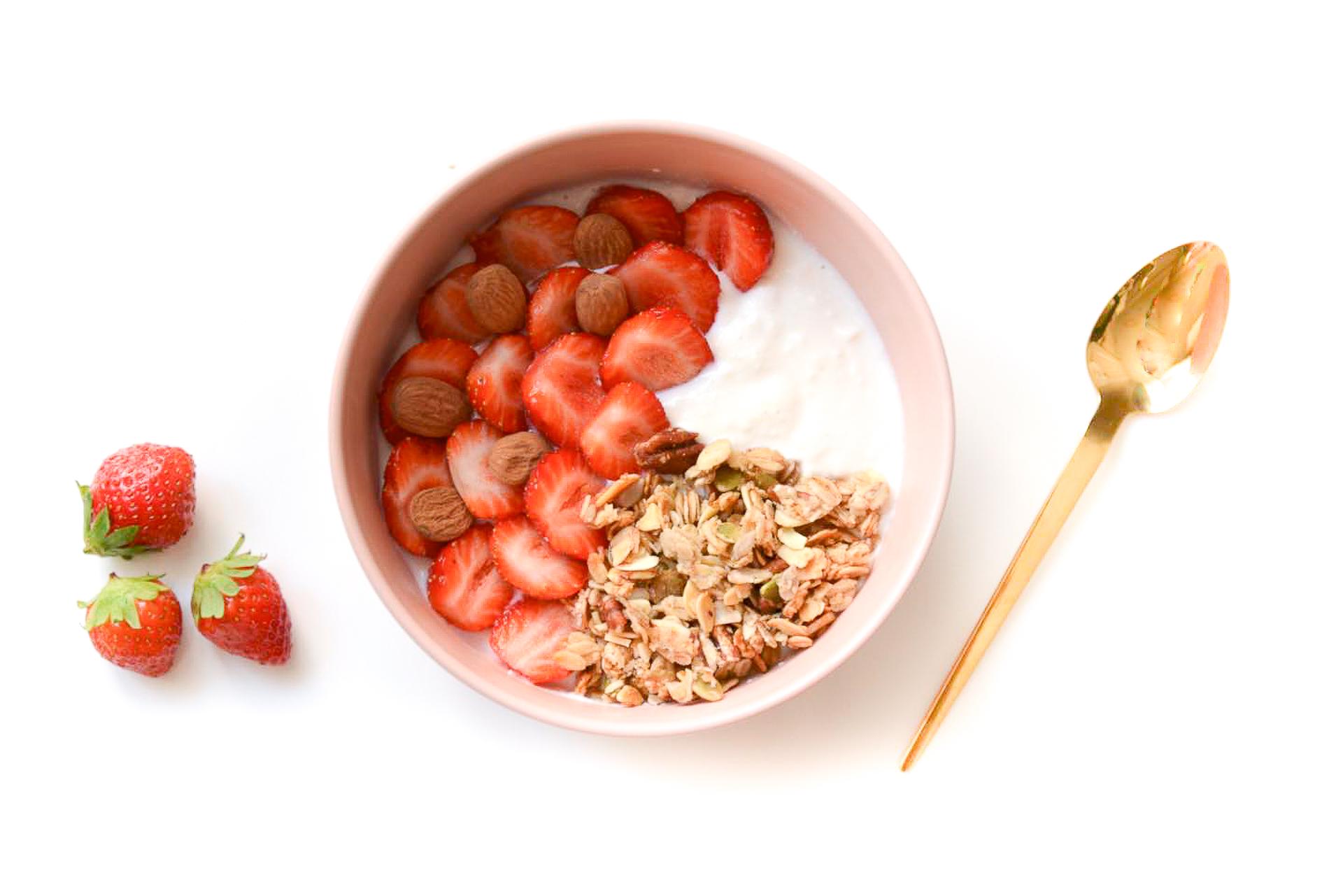 yaourt granola fraises