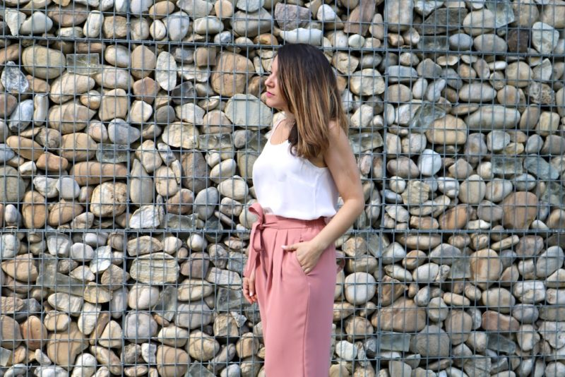 Look 20: Jupe-Culotte Rose