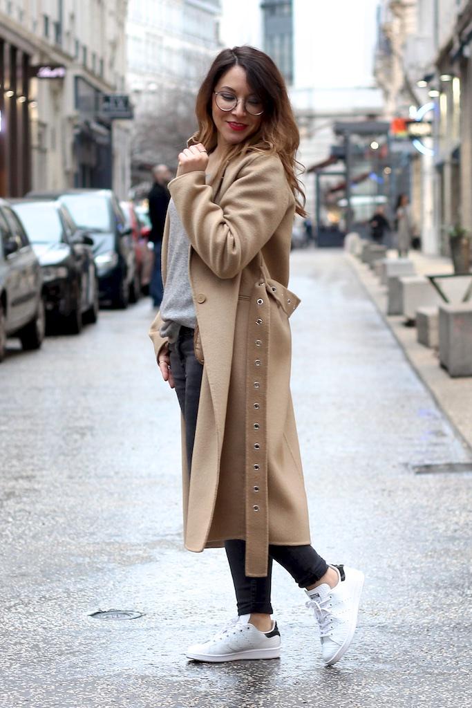Manteau Long Sandro Camel Pull Cachemire Gris Galeries Lafayette Jean Slim Gris Zara - Mange Brille Aime
