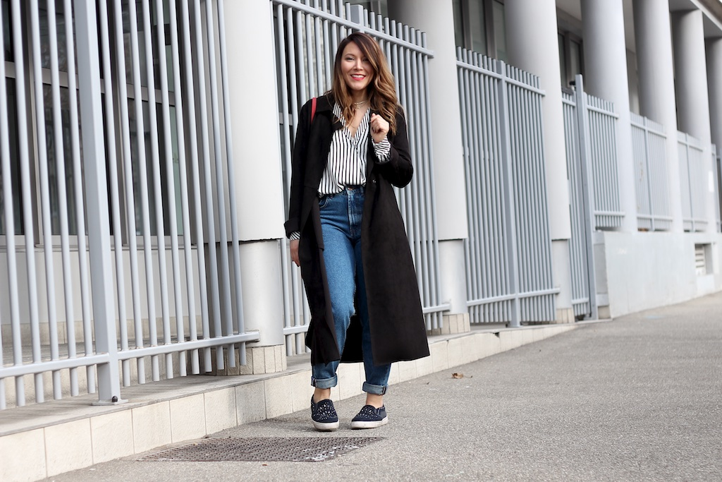 LOOK 30: RAYURES ET MOM JEANS