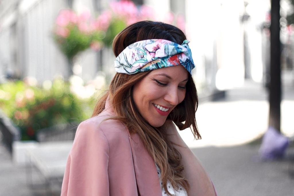 Look top Mango veste Mango headband L'Atelier Gasparine