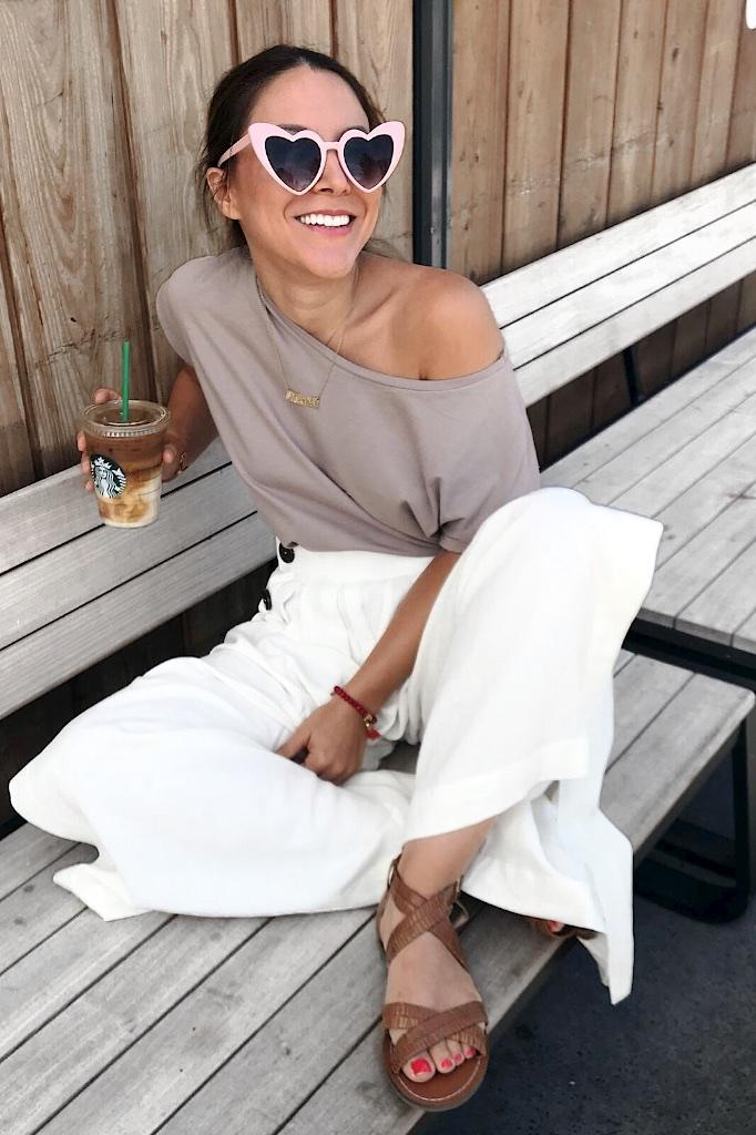 Look jupe culotte et top épaule dénudée Zara 12