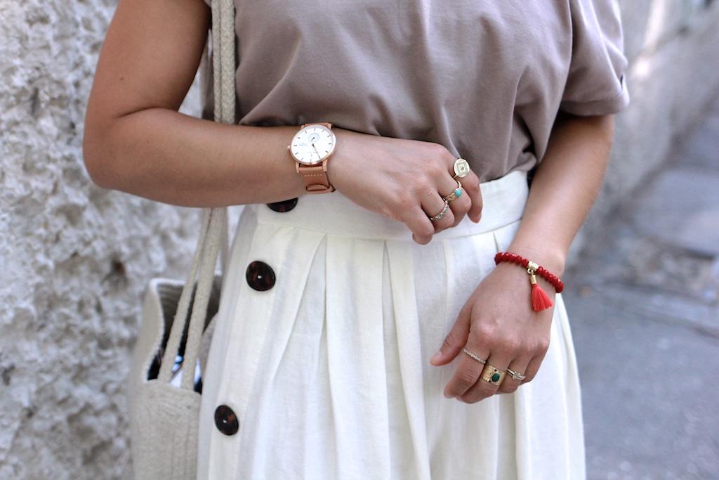 Look jupe culotte et top épaule dénudée Zara 19