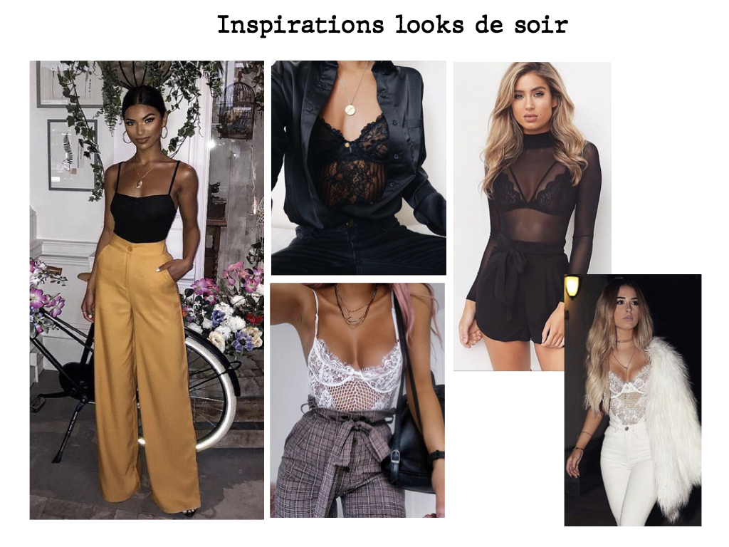 Inspirations looks de soir avec un body
