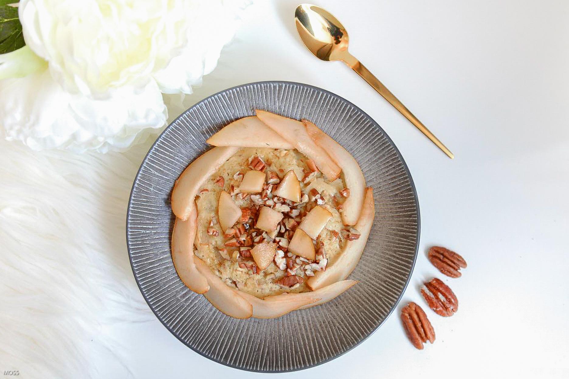 Bowl Cake d'Automne Poire Pecan Sirop d'érable