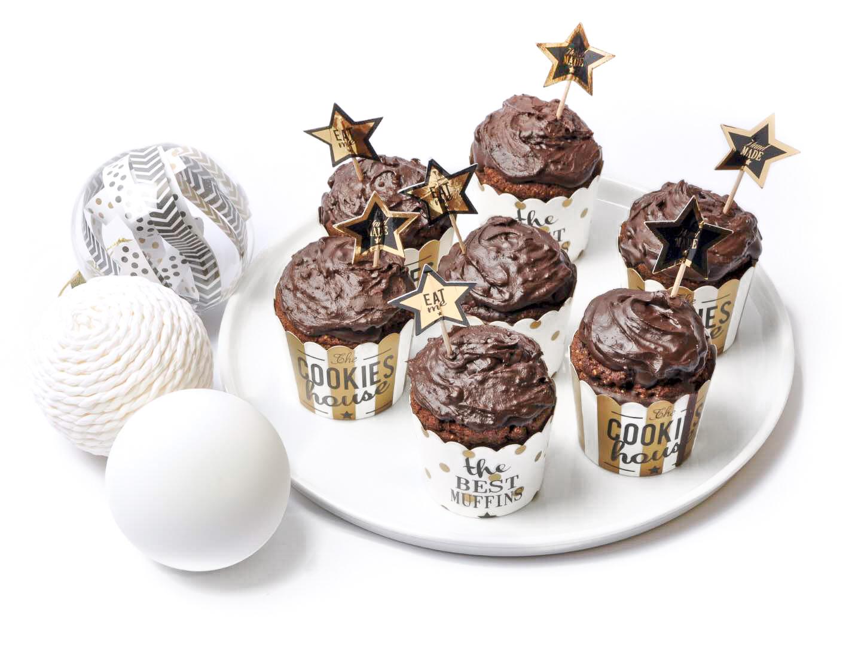 Cupcakes au chocolat sans gluten sans lactose