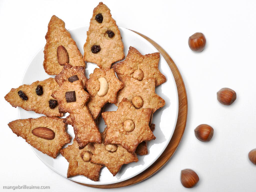 Sablés de Noël vegan sans sucres raffinés